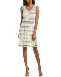M Missoni Linen-blend A-line Dress - White
