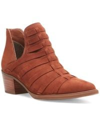 Steven by Steve Madden Dova Leather Bootie - Brown