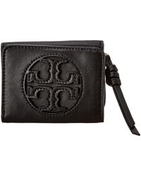 Tory Burch Micro Miller Leather Wallet - Black