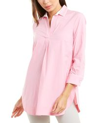 Piazza Sempione Open Placket Tunic Top - Pink