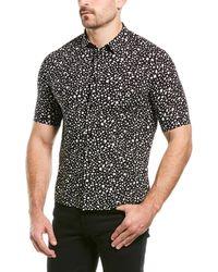 Saint Laurent Speckled Leopard Woven Shirt - Black