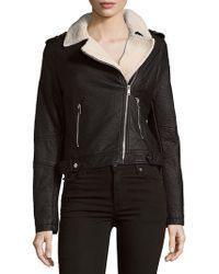 Saks Fifth Avenue | Two-pocket Asymmetric Moto Jacket | Lyst