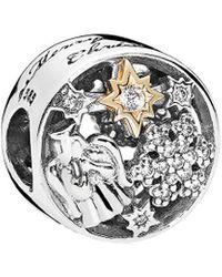 PANDORA 14k & Silver Cz Celestial Wonders Charm - Metallic