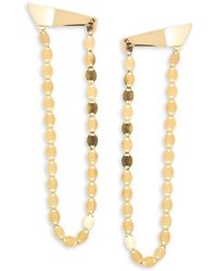 Lana Jewelry | 14k Gold Long Nude Drop Earrings | Lyst