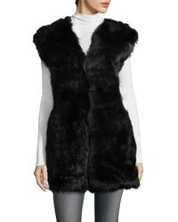 IRO Manami Shearling Vest - Black