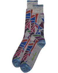 Robert Graham Berman Socks - Gray
