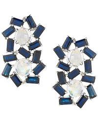 Dana Rebecca - Designs Kristyn Kylie 14k 2.58 Ct. Tw. Diamond & Blue Moonstone Ear Climbers - Lyst