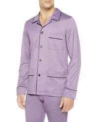 La Perla Pyjama With Button-through Front - Purple