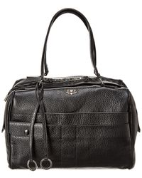 Zadig & Voltaire Twister Leather Duffel Bag - Black