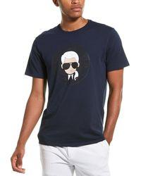 Karl Lagerfeld Coin Circle T-shirt - Blue