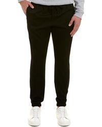 Saint Laurent Drawstring Wool Pant - Black
