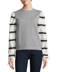 Lea & Viola - Heather Striped Sweater - Lyst