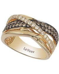 Le Vian - Chocolatier® Chocolate & Vanilla Diamondstm Gladiator Weave Ring In 14k Honey Goldtm - Lyst