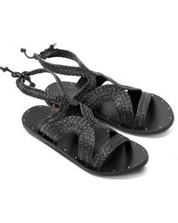 Beek Cuckoo Leather Sandal - Black