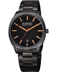 August Steiner Men's Stainless Steel Watch - Black
