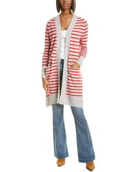 Autumn Cashmere Maritime Stripe Cardigan - Grey