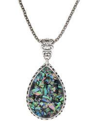Samuel B. Silver 23.00 Ct. Tw. Abalone Doublet Pendant Necklace - Metallic