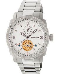 Heritor Men's Helmsley Watch - Metallic
