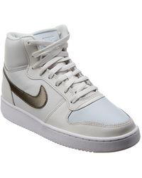 Nike Ebernon Mid-top Leather Trainer - White