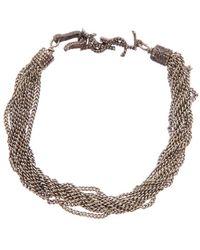 Saint Laurent Loulou Multichain Bracelet - Metallic