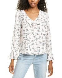 Cece By Cynthia Steffe Ruffled Penelope Bouquet Blouse - White
