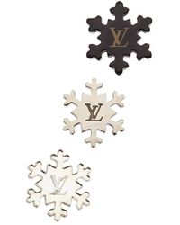 Louis Vuitton Acrylic Snowflake Pins - Multicolour