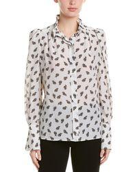 Isabel Marant Etoile Lamia Printed Silk Shirt - White