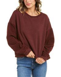 Michael Stars Ezra Cropped Sweatshirt - Purple