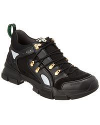 Gucci - Flashtrek Leather & Mesh Sneaker - Lyst