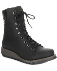 Fly London Same Suede Boot - Black