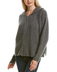 James Perse Cropped Cashmere & Silk-blend Hoodie - Gray