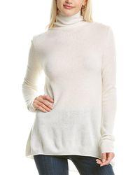 Forte Funnel Neck Cashmere Sweater - White