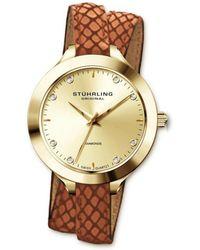 Stuhrling Original Stuhrling Women's Vogue Diamond Wrap Watch - Metallic