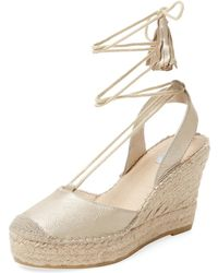 Elorie Leather Ankle-wrap Wedge - Multicolour