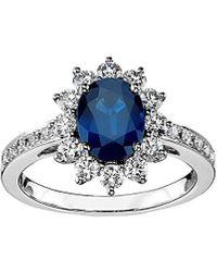 Diana M. Jewels . Fine Jewellery 18k 0.74 Ct. Tw. Diamond & Sapphire Ring - Blue
