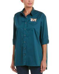 Paul & Joe Baronne Cat Pocket Shirt - Green