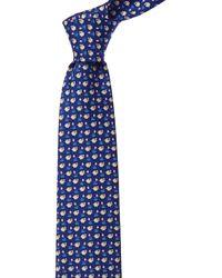Ferragamo Blue Sheep Silk Tie