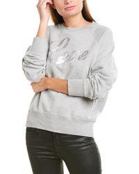 Zadig & Voltaire Upper Foil Sweatshirt - Gray