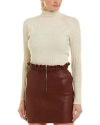 Maje Drawcord Leather Mini Skirt - Red