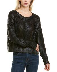 Bobi Coated Cropped Sweater - Black