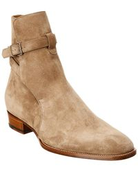 Saint Laurent - Wyatt Suede Boot - Lyst
