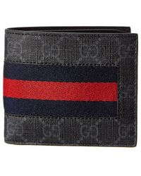 Gucci - Gg Supreme Web Wallet - Lyst