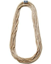 Lafayette 148 New York Signature Mesh 54in Necklace - Metallic