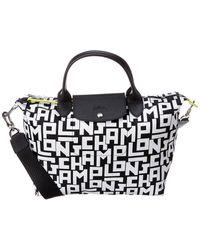Longchamp Le Pliage Lgp - Top Handle Bag M - Black