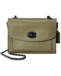 COACH Parker 18 Leather Shoulder Bag - Green