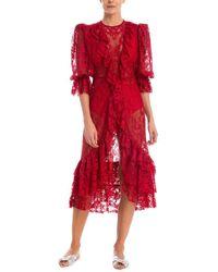 Adriana Degreas Bacio Midi Dress - Red