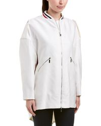 Moncler - Silk-blend Coat - Lyst