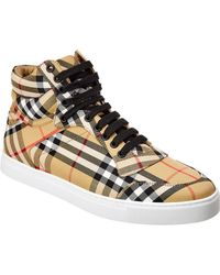 Burberry - Canvas Trainer - Lyst