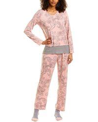 Ellen Tracy 3pc Pyjama Pant Set - Pink