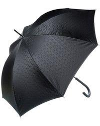 Burberry Monogram Print Folding Umbrella - Black